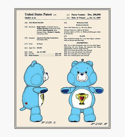 Champ Bear Patent Photographic Print