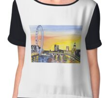 London Sky Chiffon Top