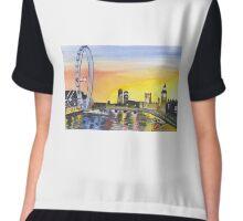 London Sky Chiffon Top