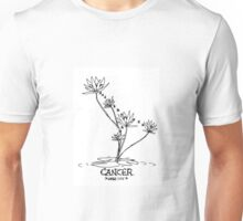 Floral Constellations - Cancer Unisex T-Shirt