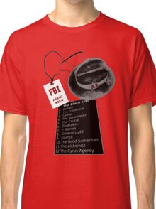 The Blacklist Top 12 with RR on Hat Classic T-Shirt