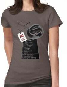 The Blacklist Top 12 with RR on Hat Womens Fitted T-Shirt