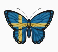 Swedish Flag Butterfly Kids Clothes