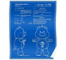 Champ Bear Patent - Blueprint Poster