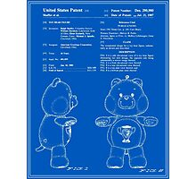Champ Bear Patent - Blueprint Photographic Print
