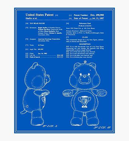 Champ Bear Patent - Blueprint Photographic Print
