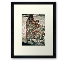 C4 Madonna with infant Jesus Catacomb S Domatilla Rome Italy 19840722 0029p Framed Print