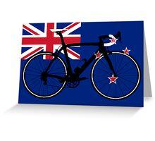 Bike Flag New Zealand (Big - Highlight) Greeting Card