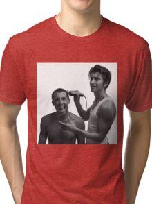 TLSP- Alex Turner shaving Miles Kane's head Tri-blend T-Shirt