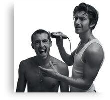 TLSP- Alex Turner shaving Miles Kane's head Canvas Print