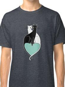 Cat Cuddles in Blue Classic T-Shirt