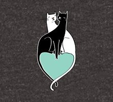 Cat Cuddles in Blue Unisex T-Shirt