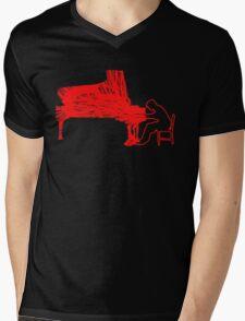 Gleen Gould's handmade exclusive design by InspiringPeople Mens V-Neck T-Shirt