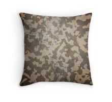 Desert camouflage pillow design Throw Pillow