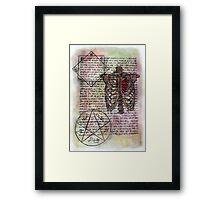 Fandom Anatomy Framed Print
