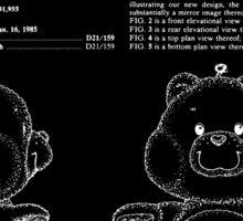 Champ Bear Patent - Black Sticker