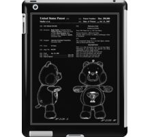 Champ Bear Patent - Black iPad Case/Skin