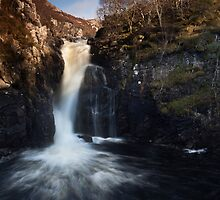 waterfall, inverkirkaig by codaimages