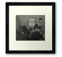 Mannequins in the Lounge Framed Print