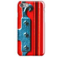 Red Door Texture iPhone Case/Skin