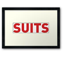 Suits TV Series Framed Print