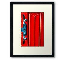 Red Door Texture Framed Print