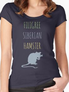 Filigree Siberian Hamster Women's Fitted Scoop T-Shirt
