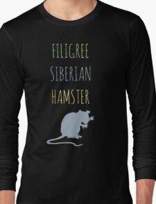 Filigree Siberian Hamster Long Sleeve T-Shirt