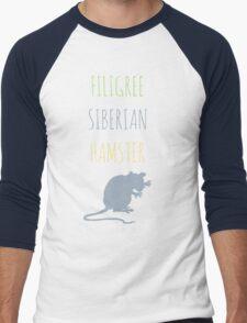 Filigree Siberian Hamster Men's Baseball ¾ T-Shirt