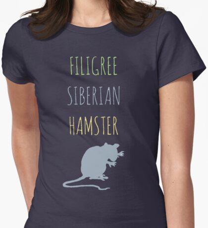 Filigree Siberian Hamster Womens Fitted T-Shirt