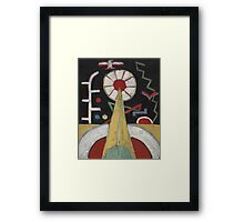 Marsden Hartley - Berlin Series No. 1. Abstract painting: abstract art, geometric, expressionism, composition, lines, forms, creative fusion, spot, shape, illusion, fantasy future Framed Print