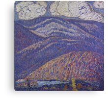 Marsden Hartley - Hall Of The Mountain King. Mountains landscape: mountains, rocks, rocky nature, sky and clouds, trees, peak, forest, rustic, hill, travel, hillside Canvas Print