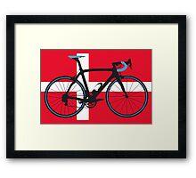 Bike Flag Denmark (Big - Highlight) Framed Print