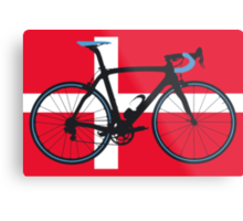 Bike Flag Denmark (Big - Highlight) Metal Print