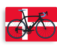 Bike Flag Denmark (Big - Highlight) Canvas Print