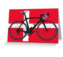 Bike Flag Denmark (Big - Highlight) Greeting Card