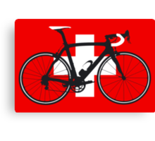 Bike Flag Switzerland (Big - Highlight) Canvas Print