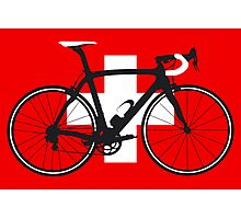 Bike Flag Switzerland (Big - Highlight) Photographic Print