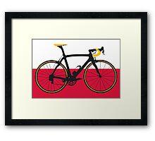 Bike Flag Poland (Big - Highlight) Framed Print