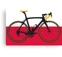 Bike Flag Poland (Big - Highlight) Canvas Print