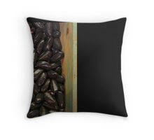 Red and Black Candy Throw Pillow