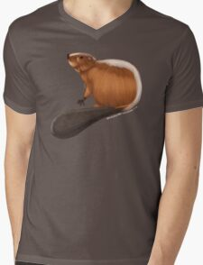 Beaver 1 Mens V-Neck T-Shirt