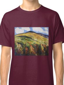 Marsden Hartley - Mountains No. 22. Mountains landscape: mountains, rocks, rocky nature, sky and clouds, trees, peak, forest, rustic, hill, travel, hillside Classic T-Shirt