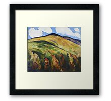 Marsden Hartley - Mountains No. 22. Mountains landscape: mountains, rocks, rocky nature, sky and clouds, trees, peak, forest, rustic, hill, travel, hillside Framed Print