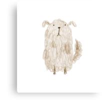 Fluffy Dog Canvas Print