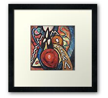 Marsden Hartley - Movements. Abstract painting: abstract art, geometric, expressionism, composition, lines, forms, creative fusion, spot, shape, illusion, fantasy future Framed Print