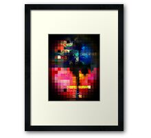 Colorful Tropical Collage Mosaic Framed Print