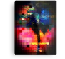 Colorful Tropical Collage Mosaic Metal Print