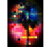 Colorful Tropical Collage Mosaic Photographic Print