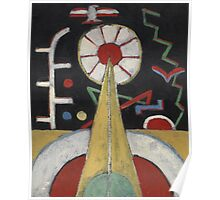 Marsden Hartley - Painting No. 3. Abstract painting: abstract art, geometric, expressionism, composition, lines, forms, creative fusion, spot, shape, illusion, fantasy future Poster